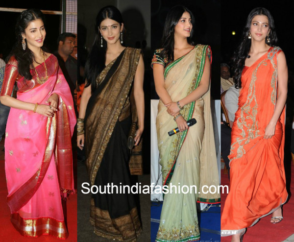 Sruti Hassan Sarees Collection