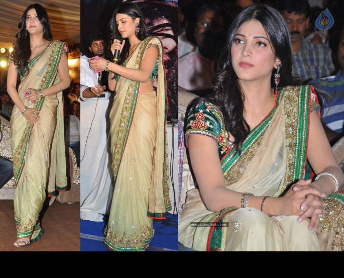 Shruti Haasan Sarees - Beige Color