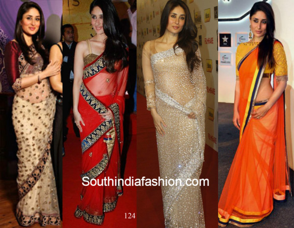 20+ Recent Latest Pics of Kareena Kapoor Khan in Designer Sarees