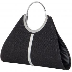 Online Shopping ADISA Black Colour women clutch at best price