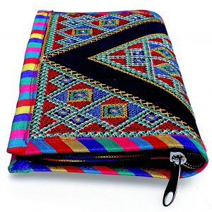 Black Traditional clutch for women with embroidery work