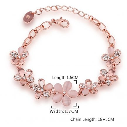 Rose Gold plated bracelet for women