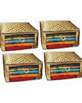 Set of 4 Pcs Wedding Gift Golden Saree Cover