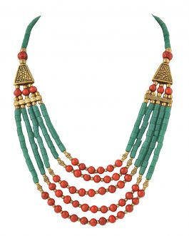 Handmade Beaded Multi Strand Necklace for Women