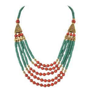 Handmade beaded multicolor necklace