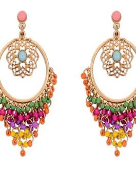 Buy Multicoloured Metal Dangle and Drop Earrings for Women