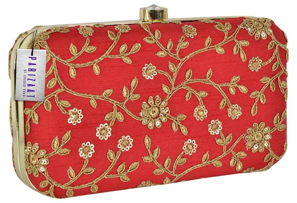 Red Color Women Clutch