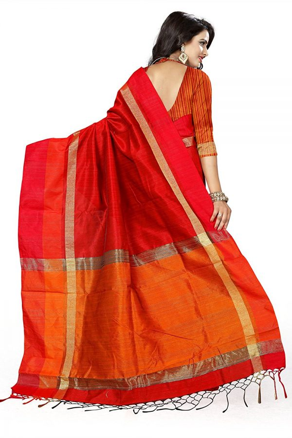 Red Silk Sarees with Blouse