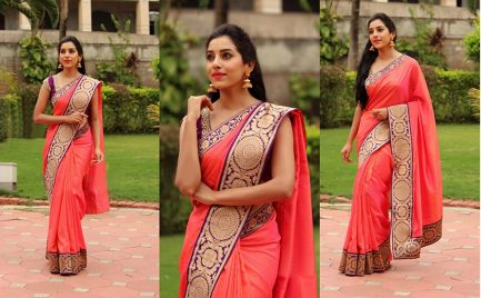 Cotton Pink Saree