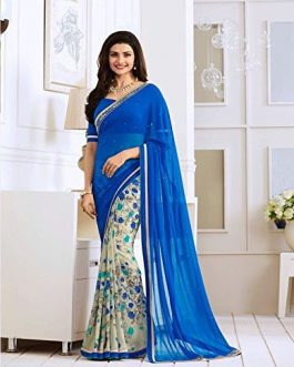 Blue color Saree for wedding and party wear