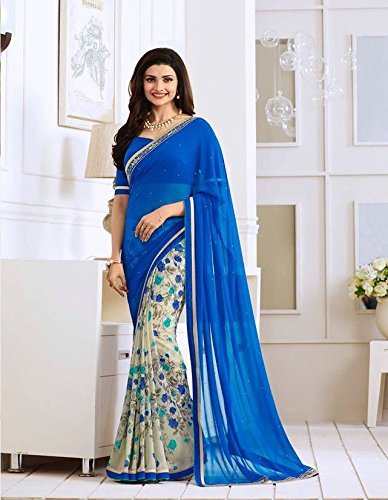 Blue Multicolor Saree