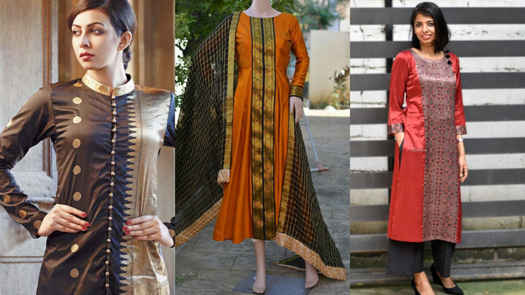 Convert Old Saree to make Kurti & Pallazzo