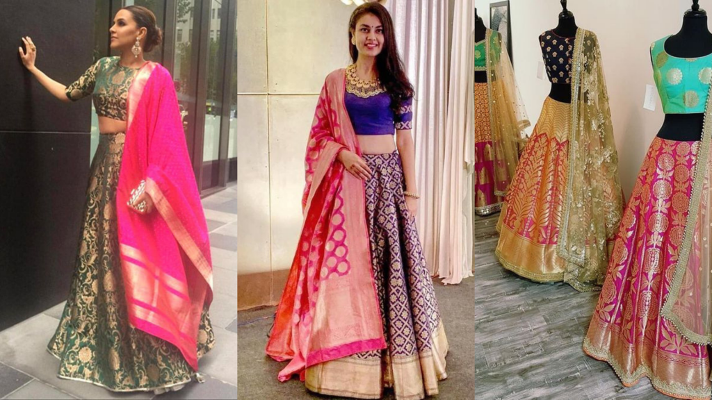 Convert Saree into lehenga choli