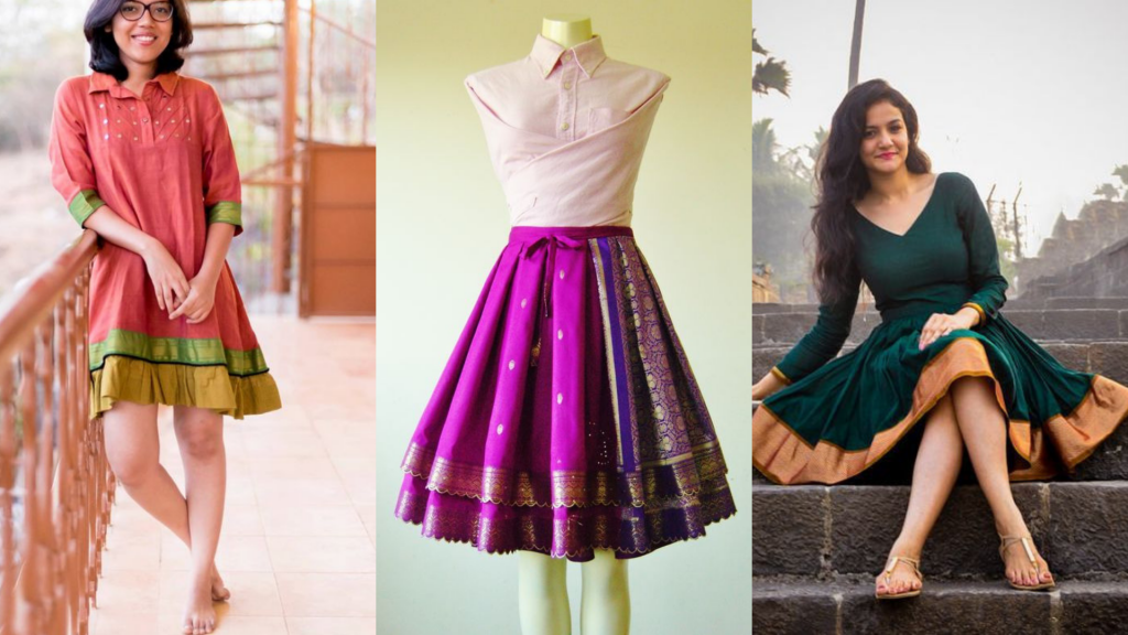 Convert Old Saree to make dress