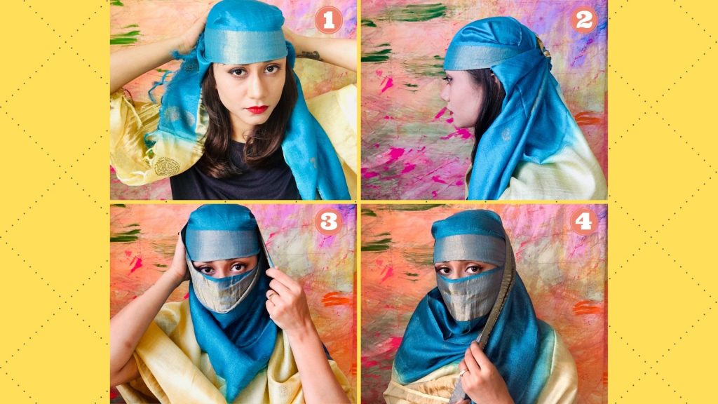 How to cover face with dupatta step by step guide