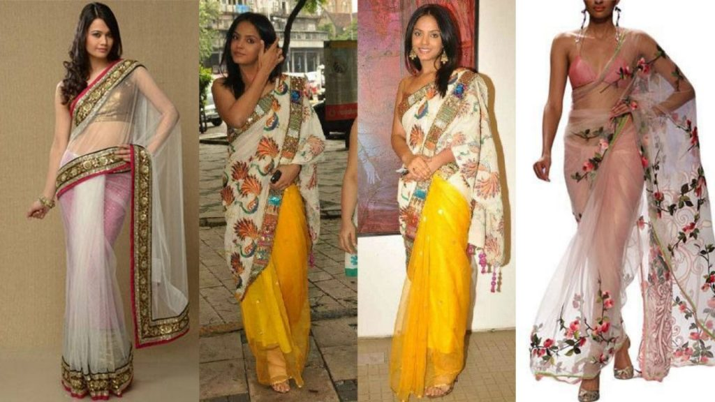 Wrong Selection of Petticoat over saree