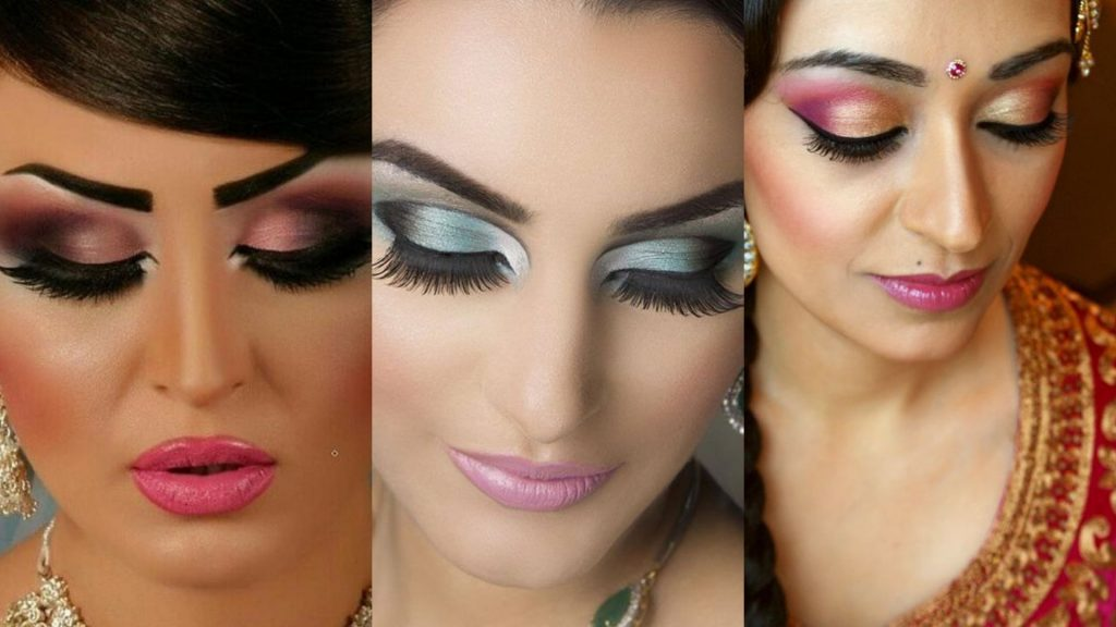 Wearing too much makeup with saree