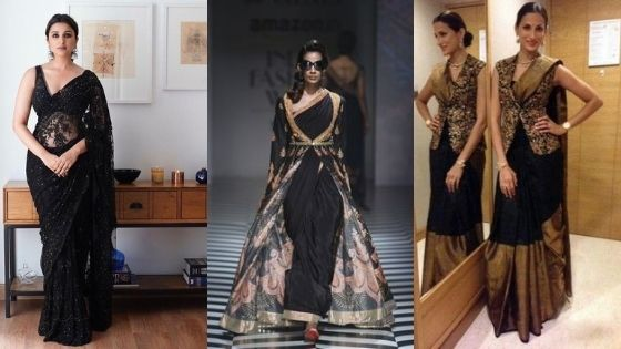 Special occasions to wear a Black saree